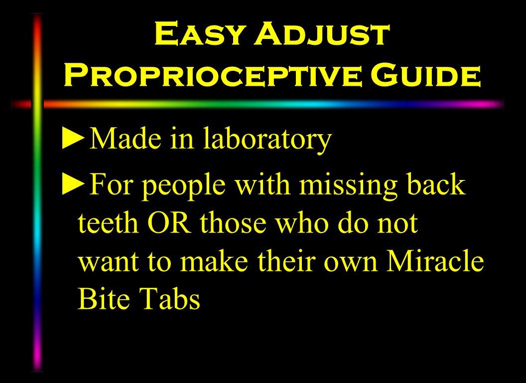 Easy Adjust Proprioceptive Guide