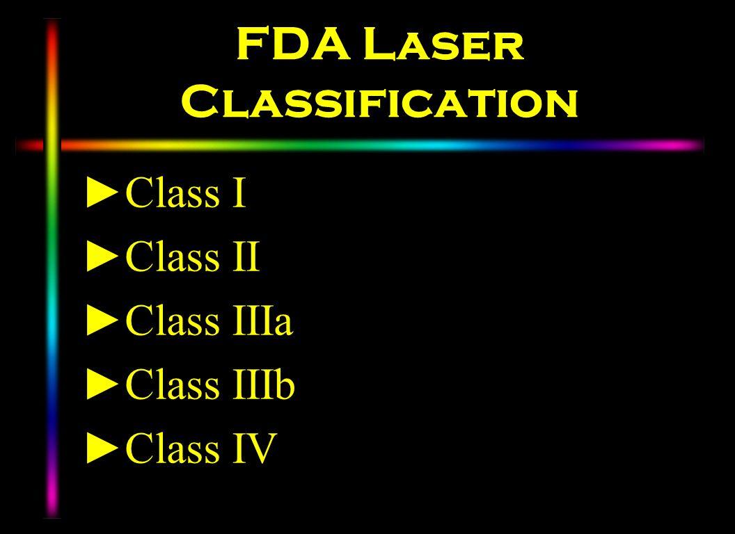 FDA Laser Classification
