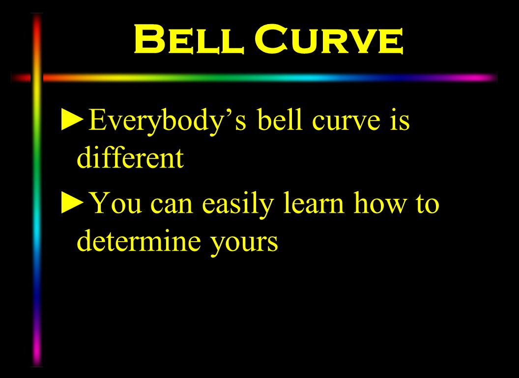 Bell Curve Everybody's bell curve is different