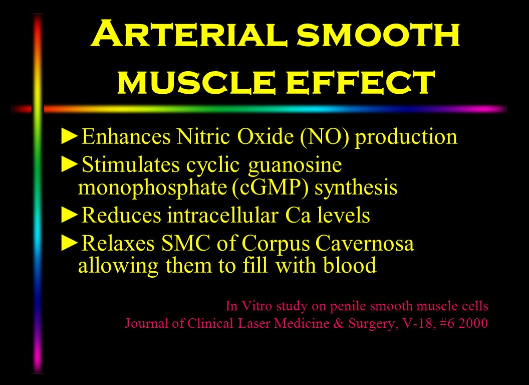 Arterial smooth muscle effect