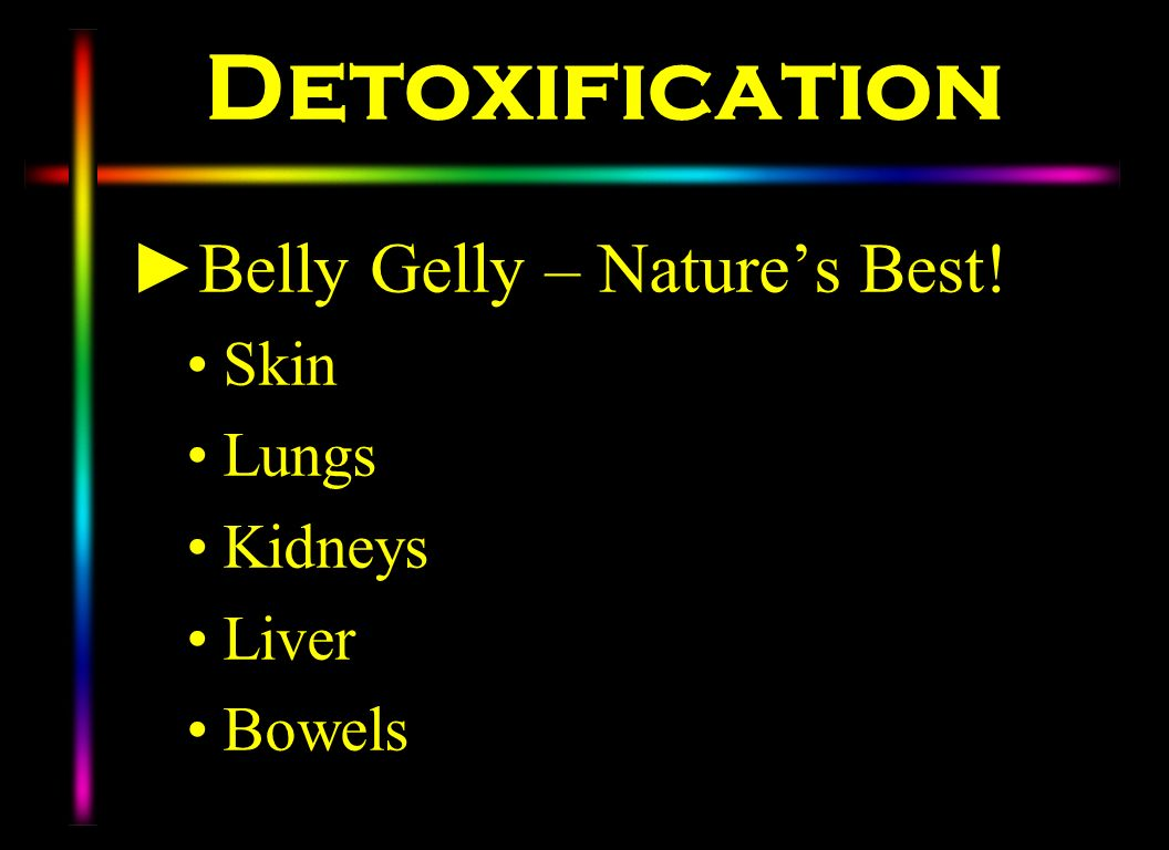 Detoxification Belly Gelly – Nature's Best! Skin Lungs Kidneys Liver