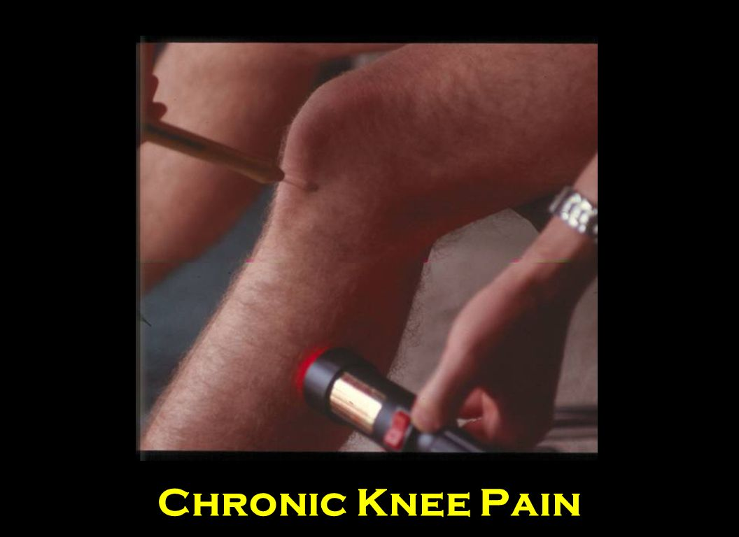 If the pain is below the knee, use the Infrared 808 Enhancer on the spot that hurts and use the Q100 or Q1000 on the muscles related to the knee.