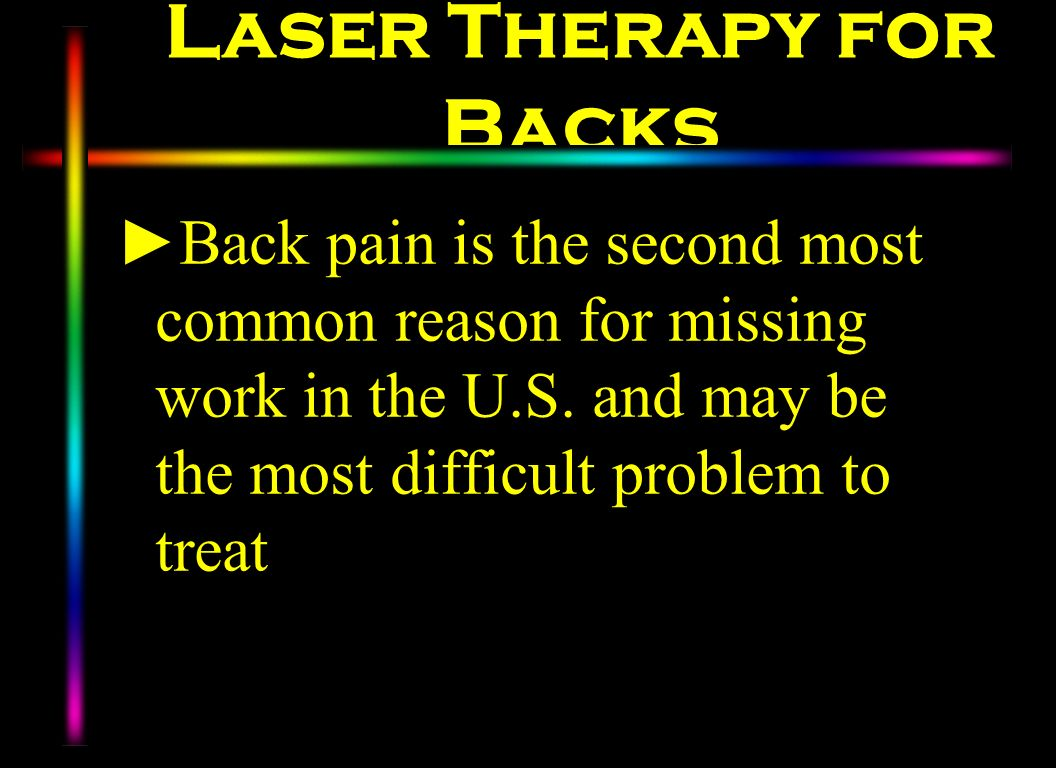 Laser Therapy for Backs