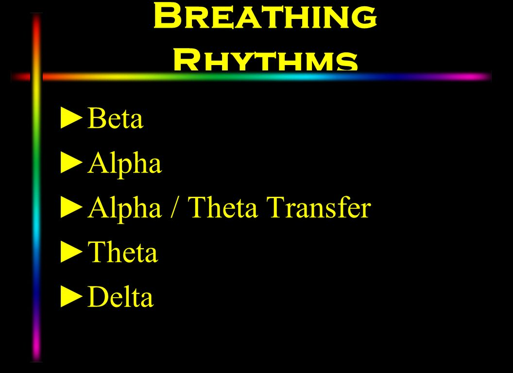 Breathing Rhythms Beta Alpha Alpha / Theta Transfer Theta Delta