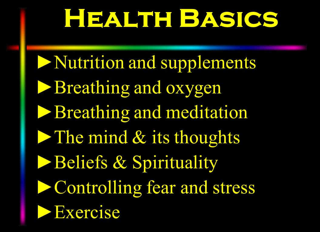 Health Basics Nutrition and supplements Breathing and oxygen