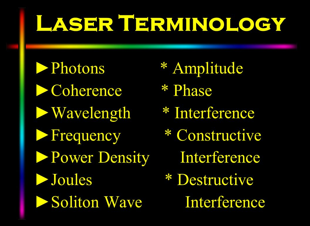 Laser Terminology Photons * Amplitude Coherence * Phase