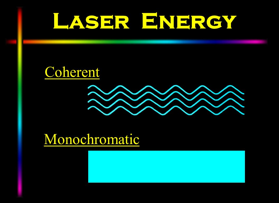 Laser Energy Coherent Monochromatic