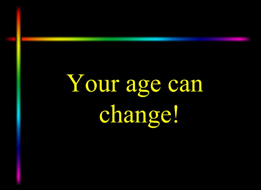 Every one knows what year you were born or your CHRONOLOGIC AGE