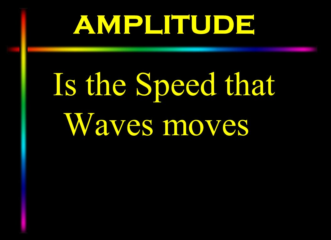 Is the Speed that Waves moves