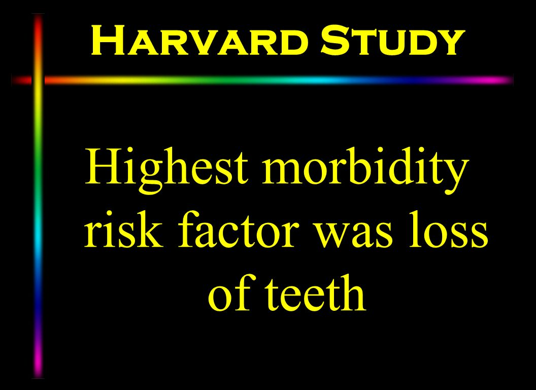 Highest morbidity risk factor was loss of teeth