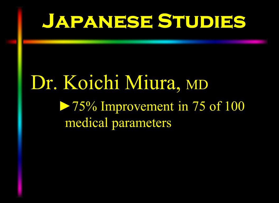 Japanese Studies Dr. Koichi Miura, MD