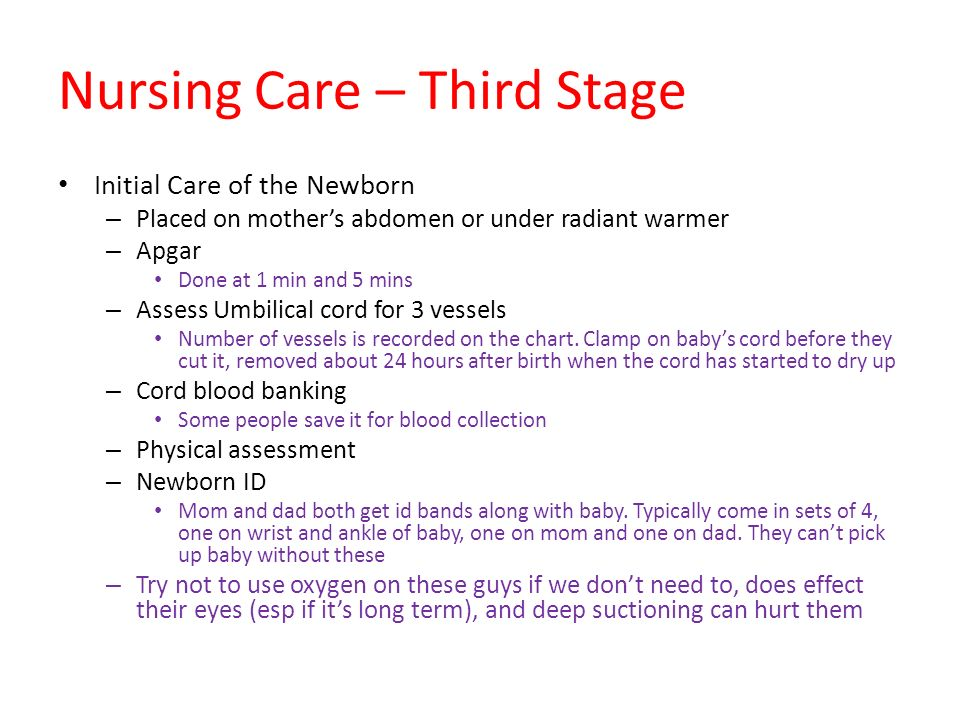 Nursing Care – Third Stage