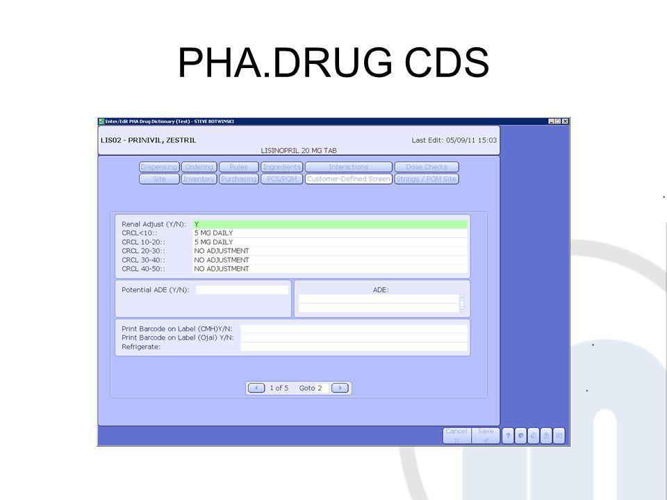 PHA.DRUG CDS