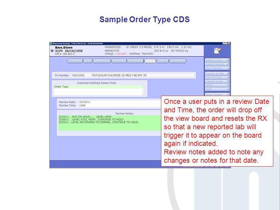 Sample Order Type CDS
