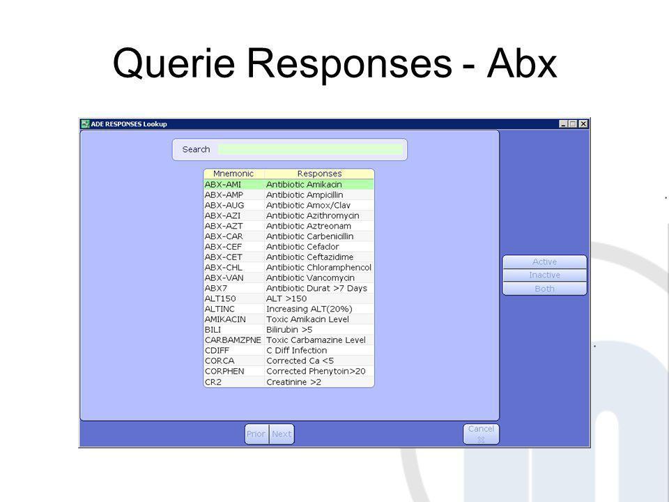 Querie Responses - Abx