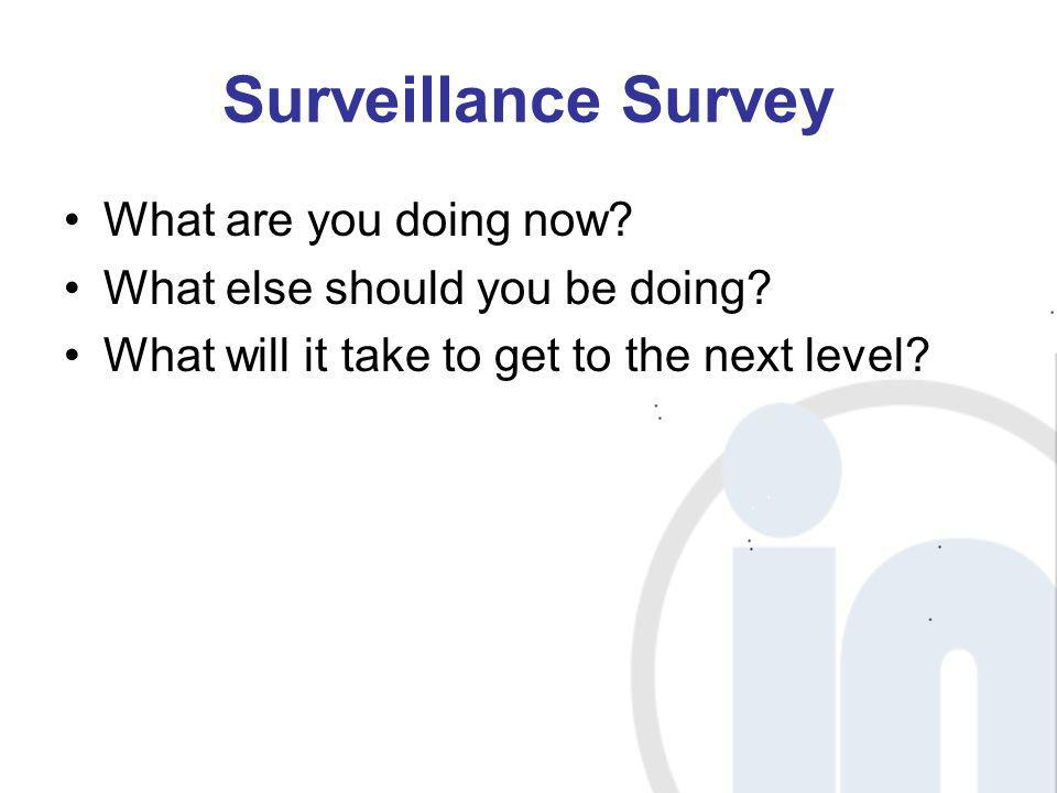 Surveillance Survey What are you doing now