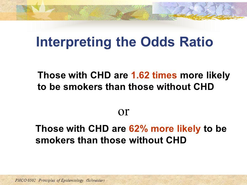 Interpreting the Odds Ratio