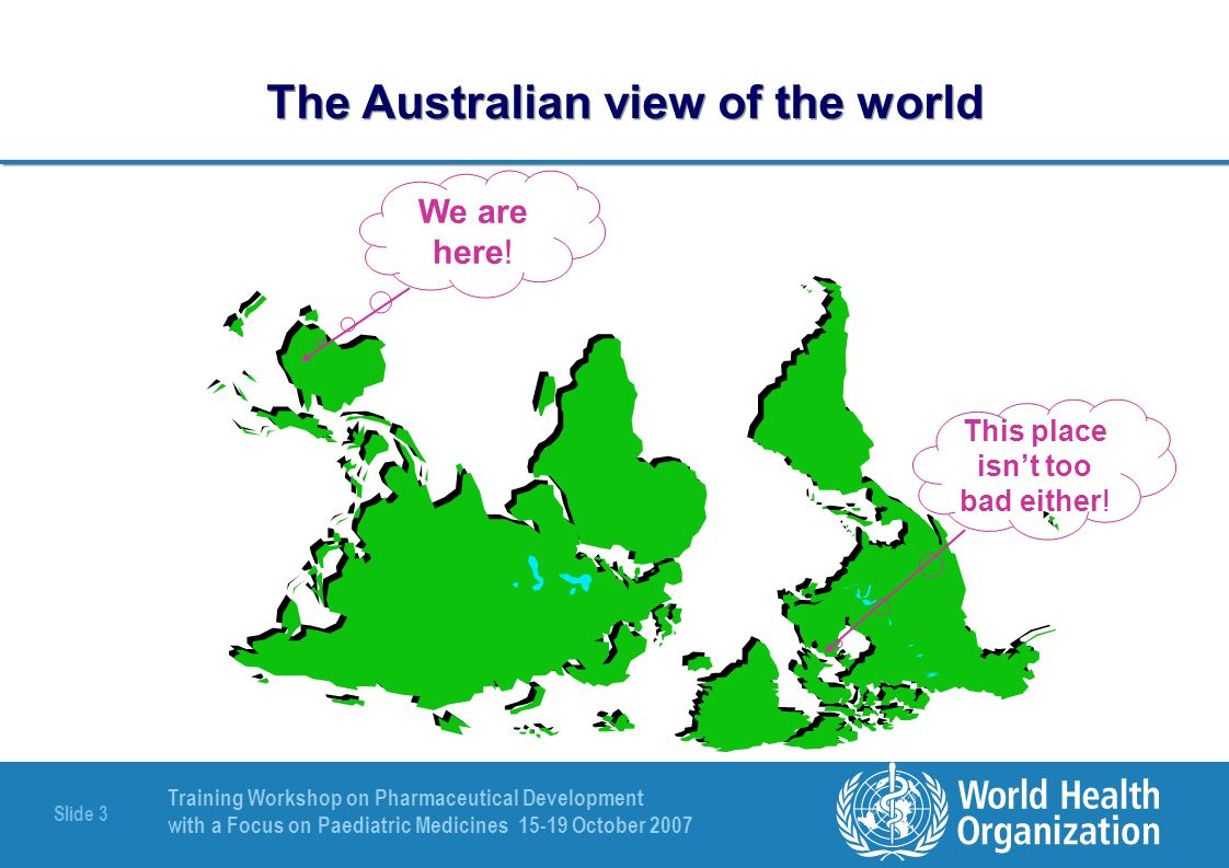 The Australian view of the world