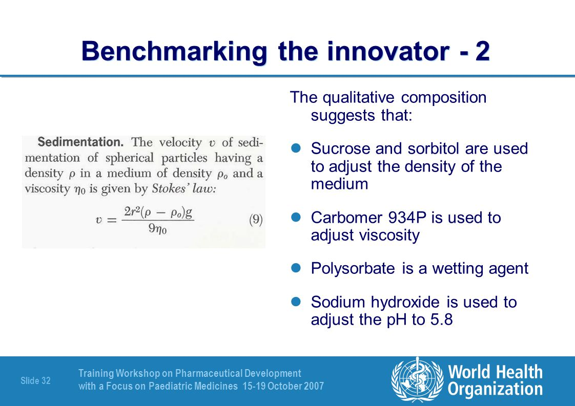 Benchmarking the innovator - 2