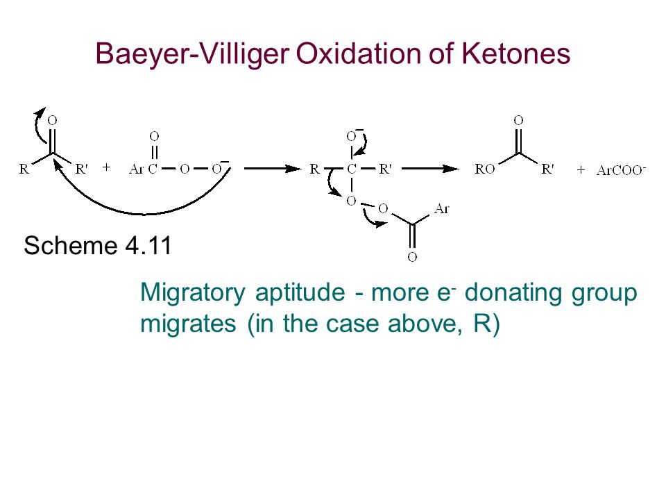 Baeyer-Villiger Oxidation of Ketones