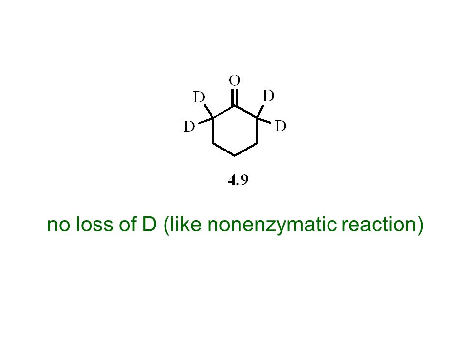 no loss of D (like nonenzymatic reaction)