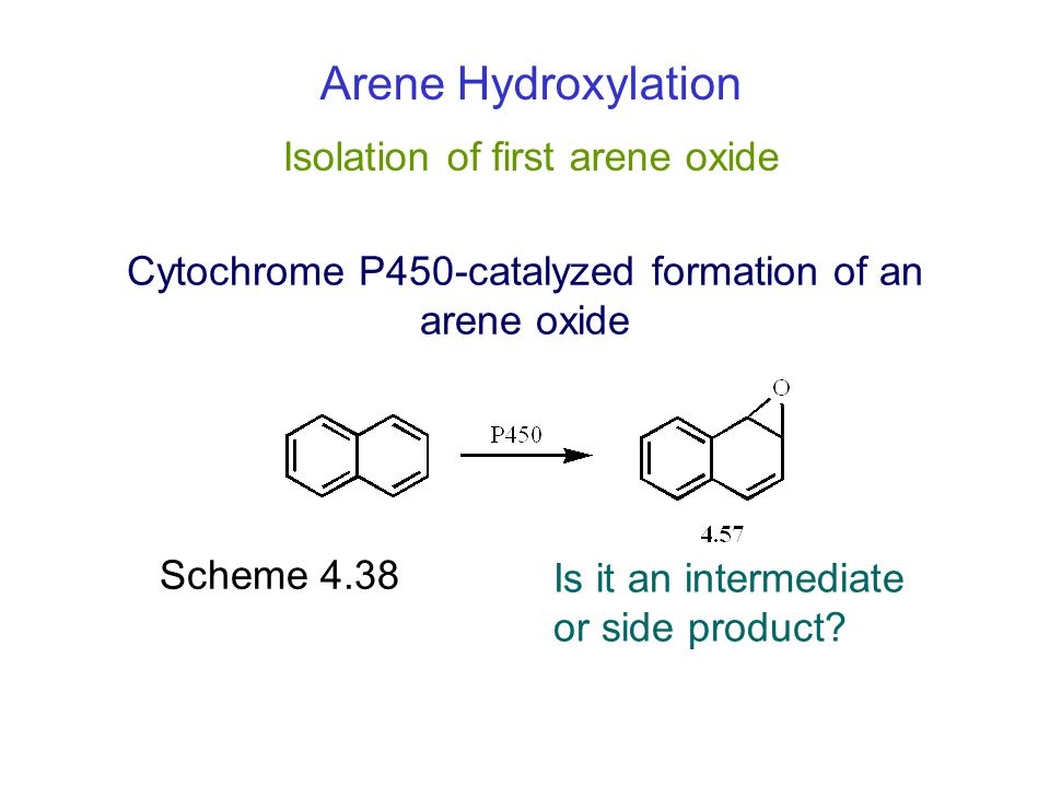 Cytochrome P450-catalyzed formation of an arene oxide