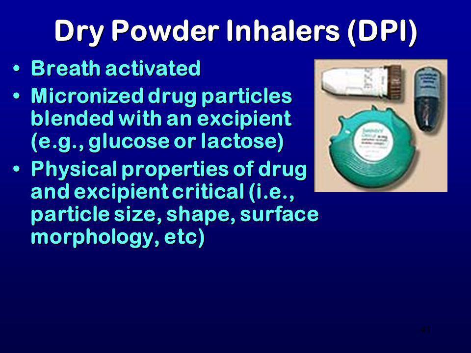 Dry Powder Inhalers (DPI)