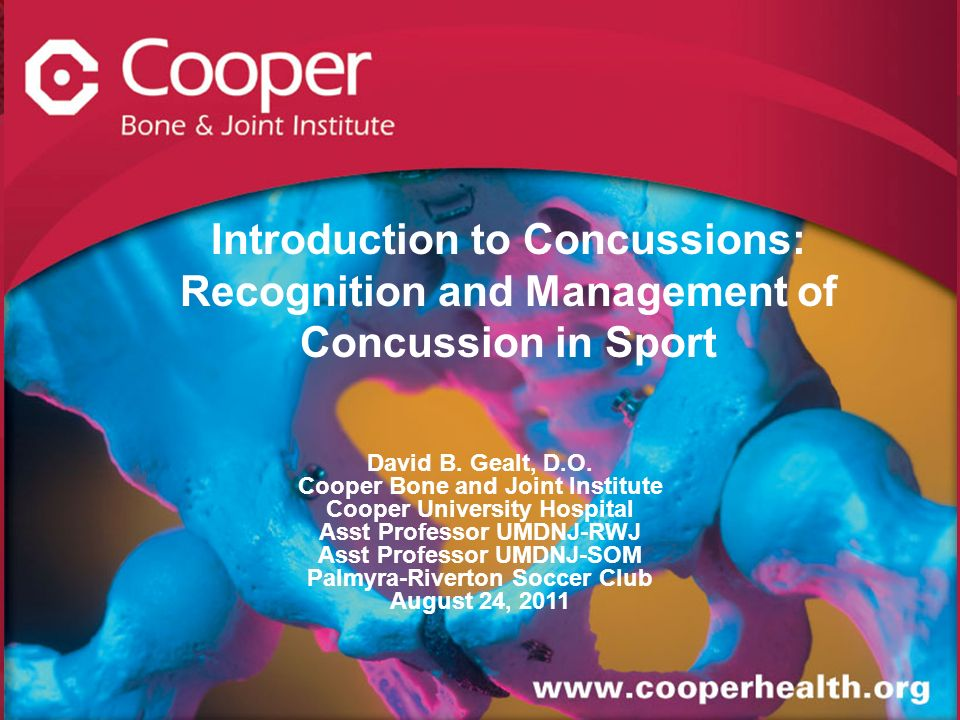 Introduction to Concussions: Recognition and Management of Concussion in Sport