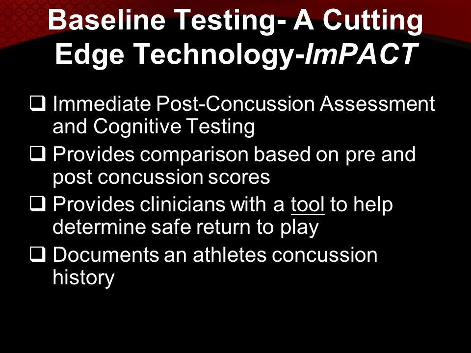 Baseline Testing- A Cutting Edge Technology-ImPACT
