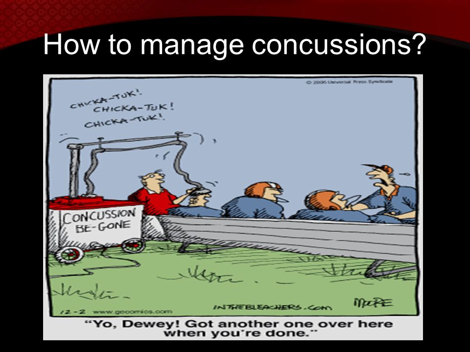 How to manage concussions