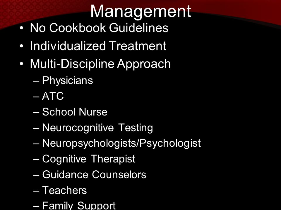 Management No Cookbook Guidelines Individualized Treatment