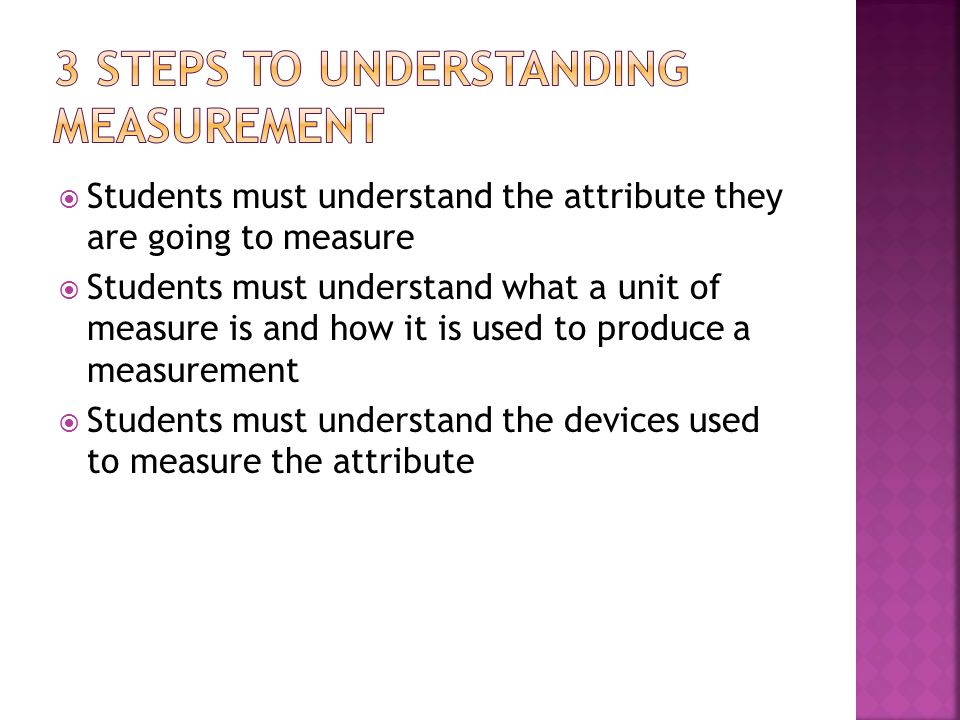 3 steps to understanding measurement