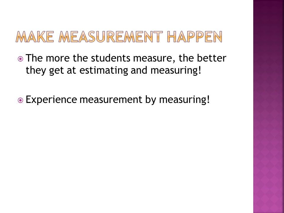 Make Measurement happen