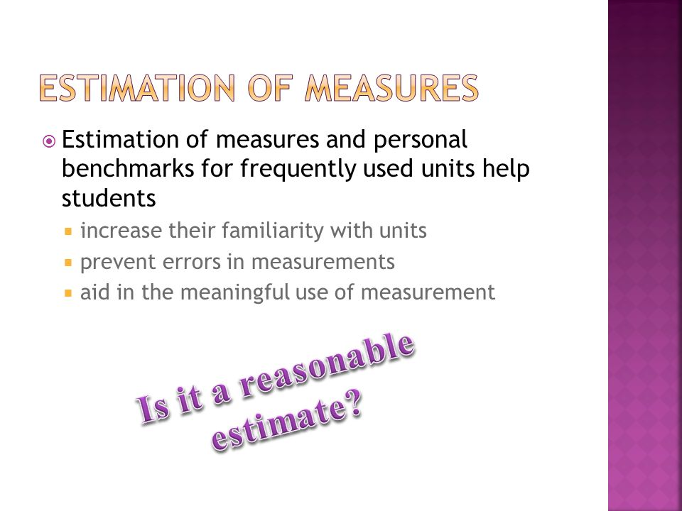 Estimation of measures