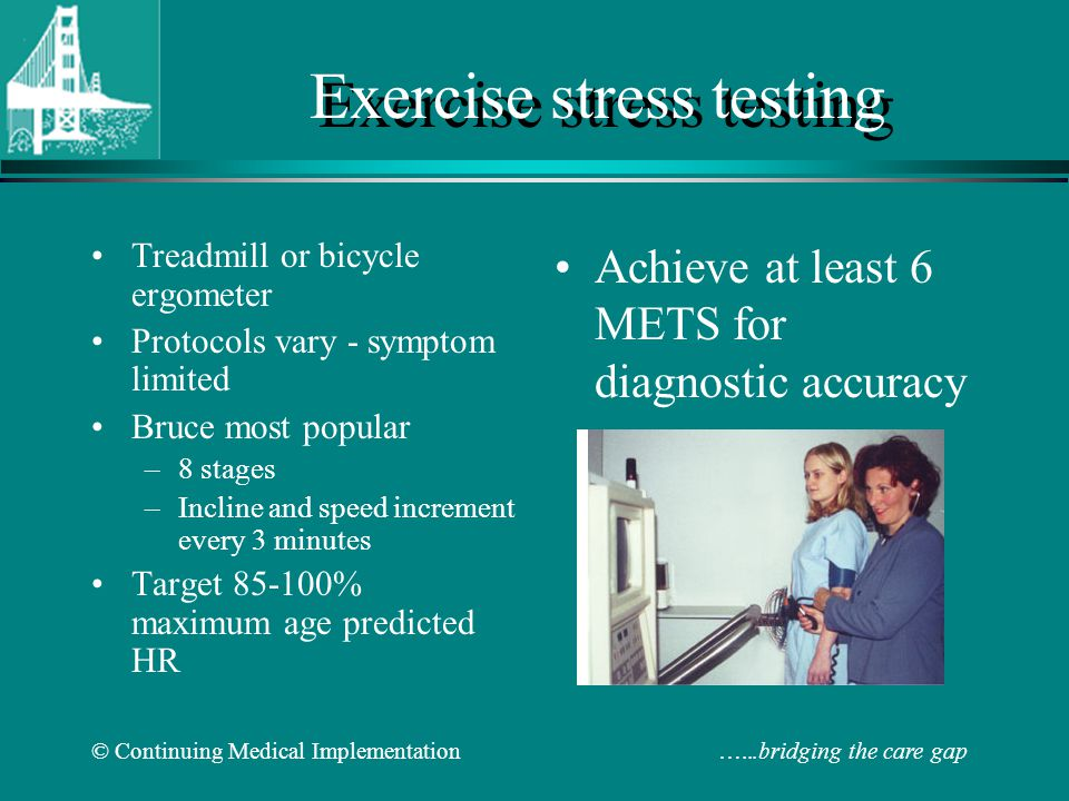 Exercise stress testing