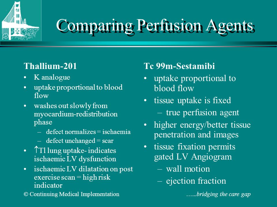 Comparing Perfusion Agents
