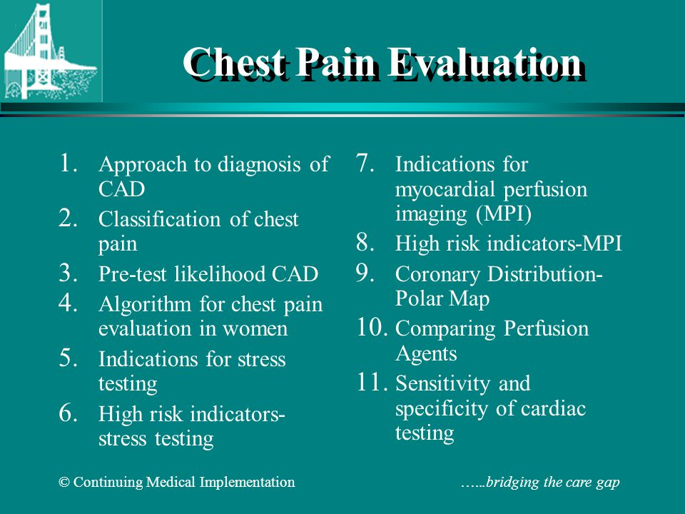 Chest Pain Evaluation Approach to diagnosis of CAD