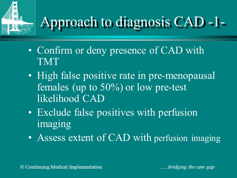 Approach to diagnosis CAD -1-