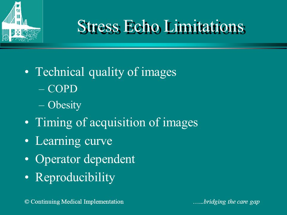 Stress Echo Limitations
