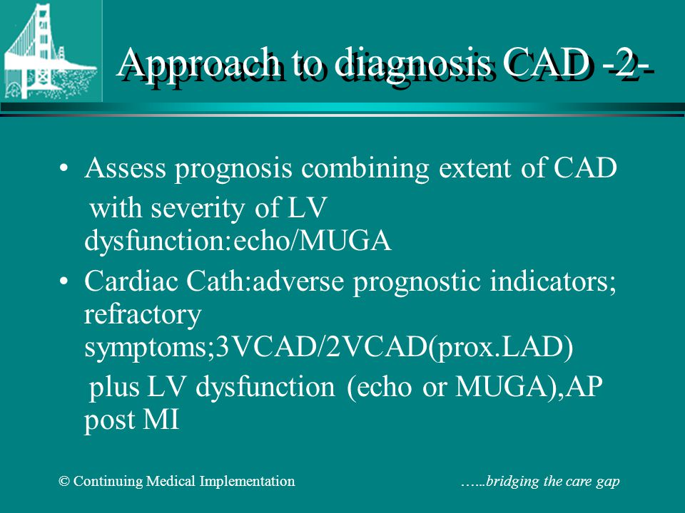 Approach to diagnosis CAD -2-