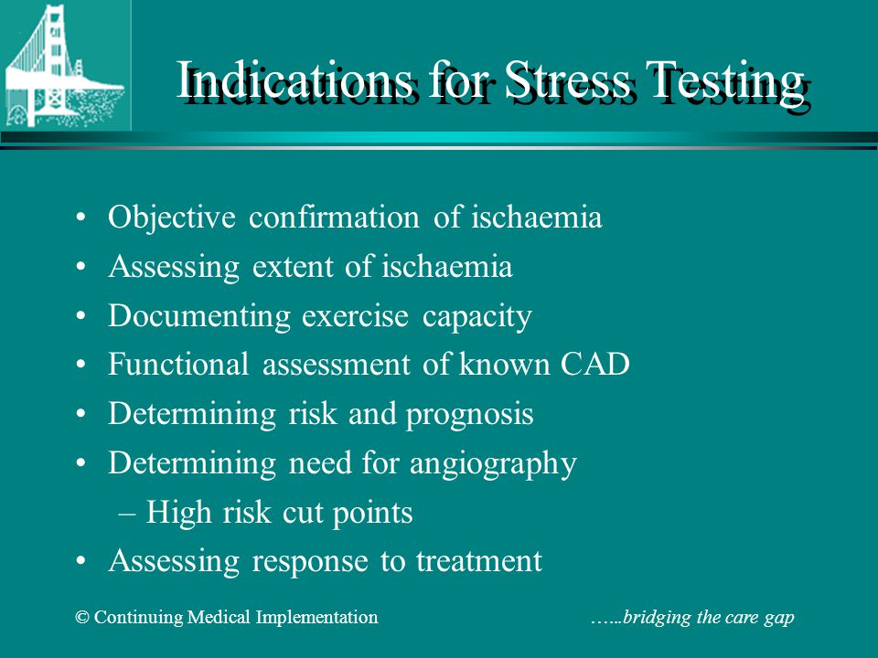 Indications for Stress Testing