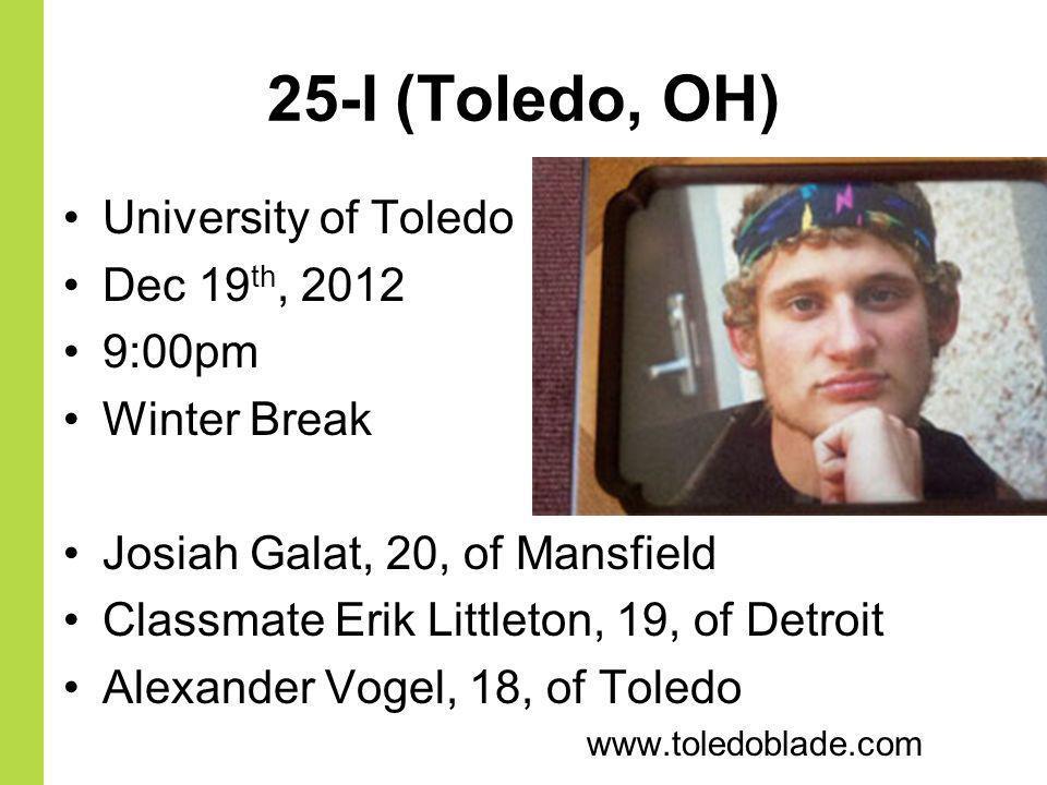 25-I (Toledo, OH) University of Toledo Dec 19th, 2012 9:00pm