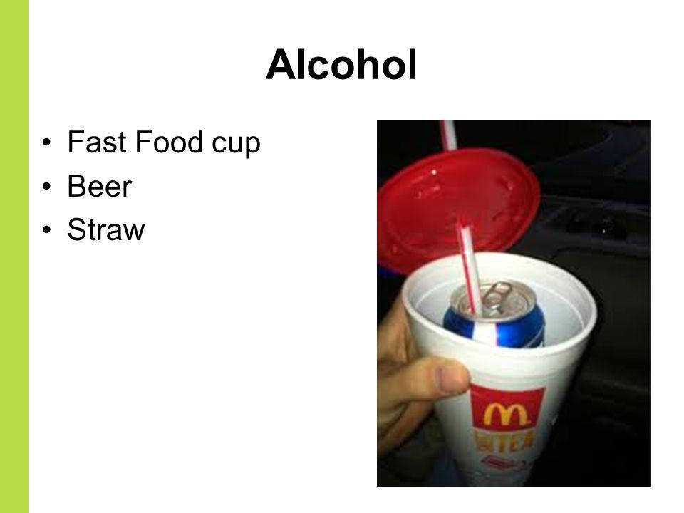 Alcohol Fast Food cup Beer Straw