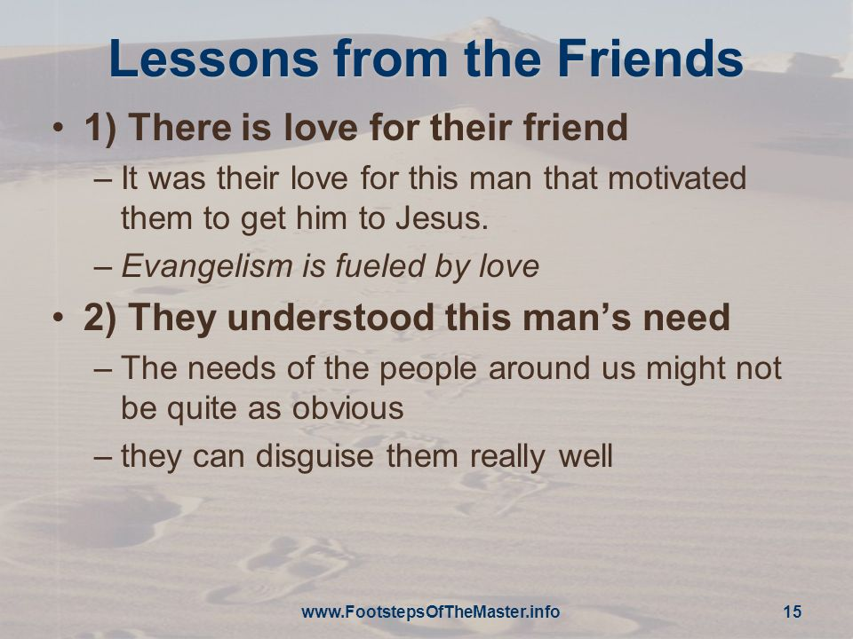 Lessons from the Friends
