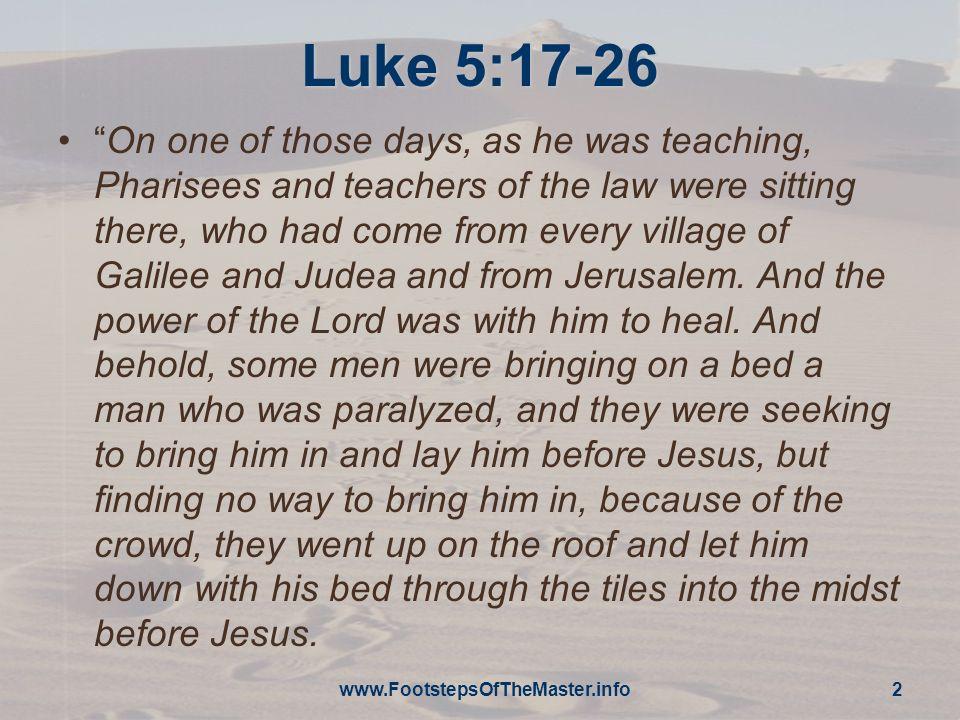 Luke 5:17-26