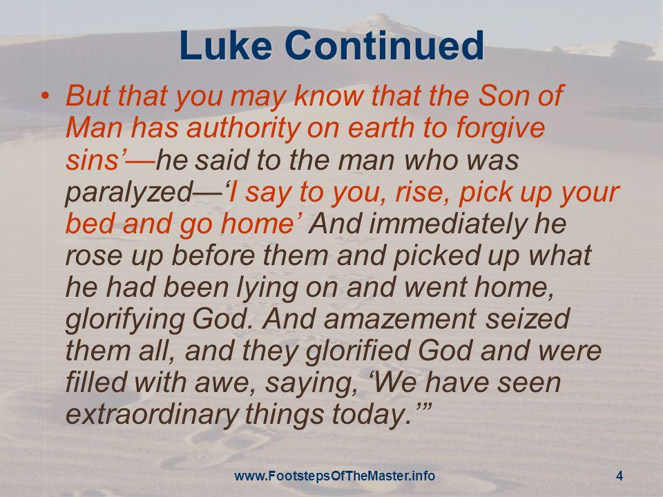 Luke Continued