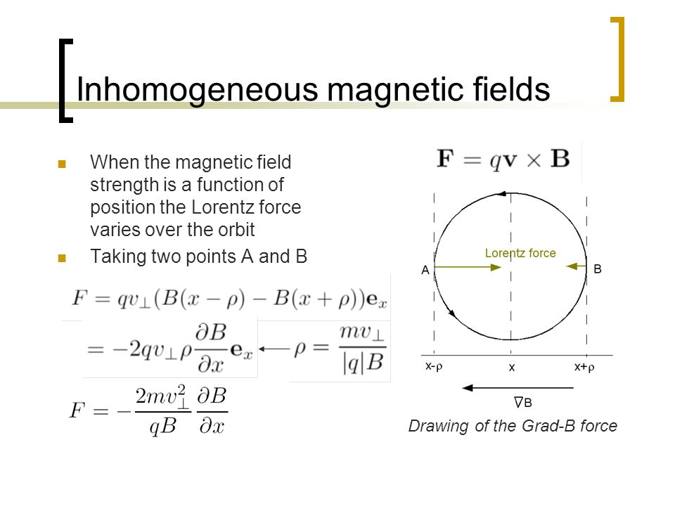 Inhomogeneous magnetic fields