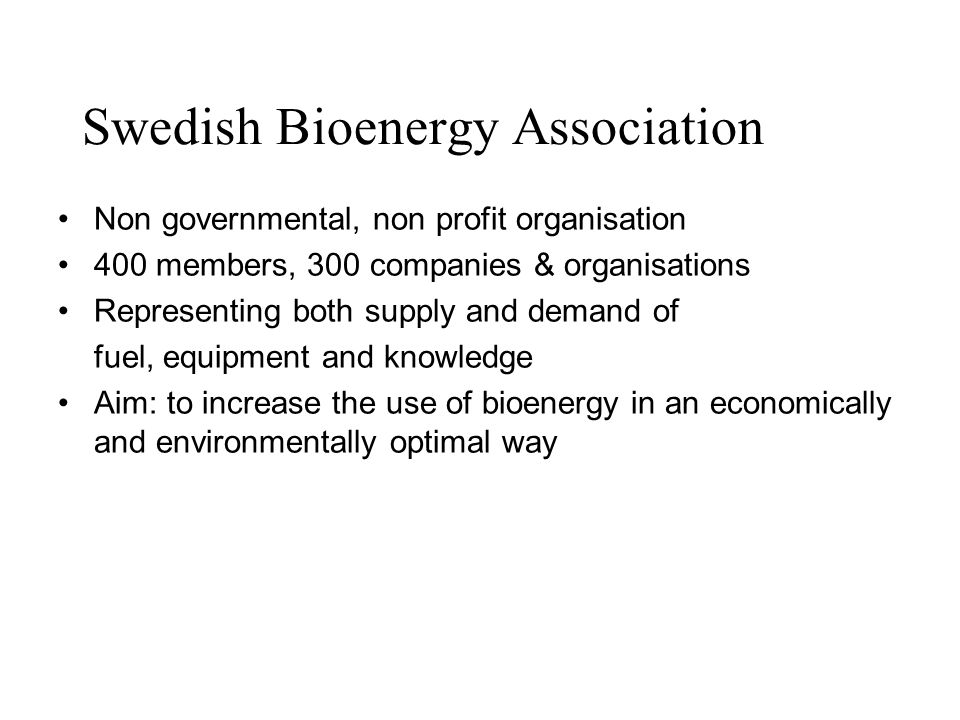 Swedish Bioenergy Association
