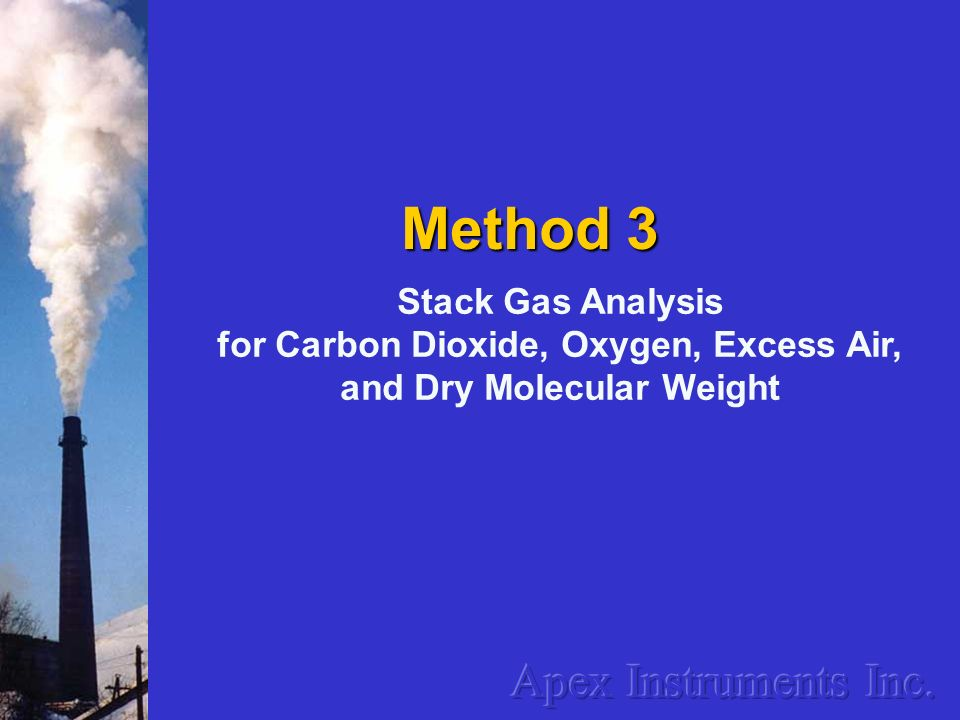 for Carbon Dioxide, Oxygen, Excess Air, and Dry Molecular Weight