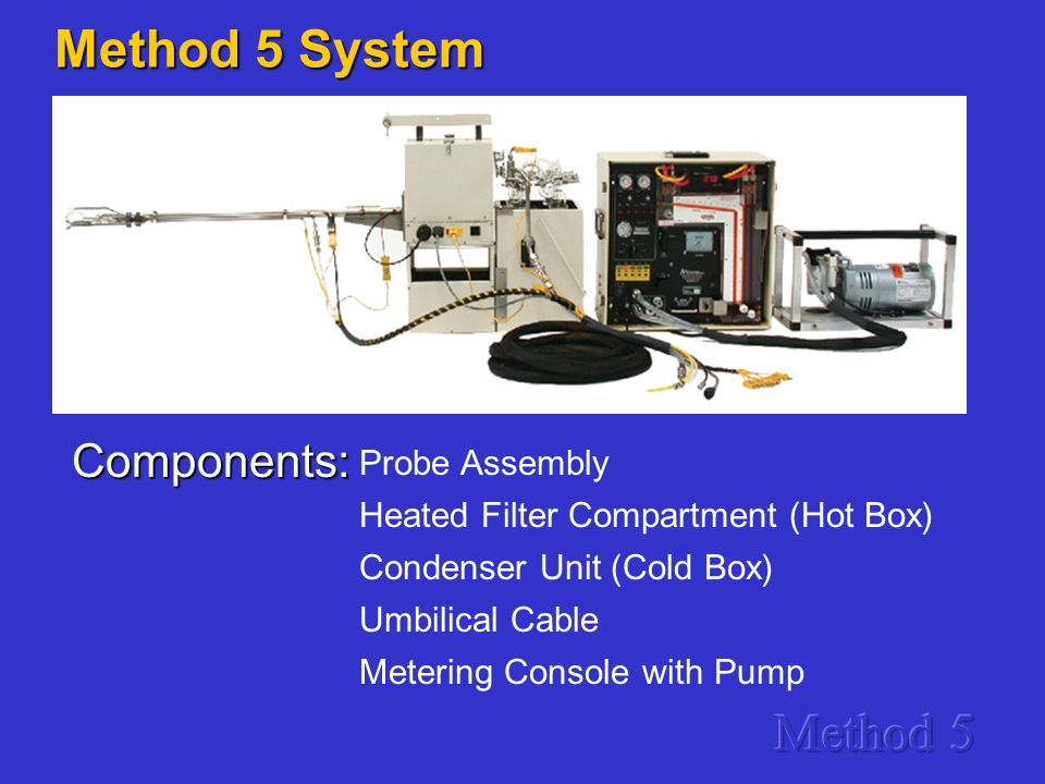 Method 5 System Method 5 Components: Probe Assembly